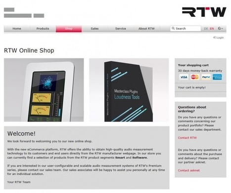 RTW Launches Online Store On Company Website - Live Design | Online Shopping Services | Scoop.it