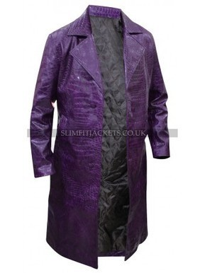 Jared Leto Joker Suicide Squad Purple Trench Coat | Leather Jackets | Scoop.it