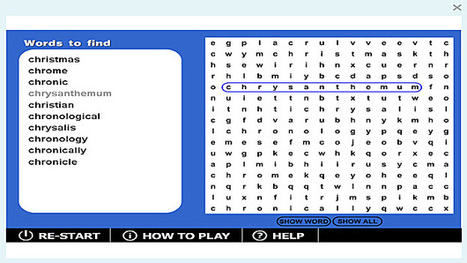 Wordsearch 'chr-' game | Sites that help our spelling | Scoop.it
