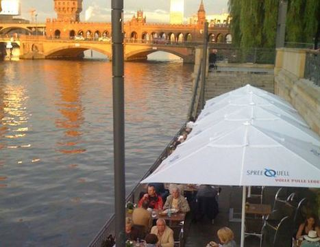 "Dining on the water at the ""Rio Grande"" in Berlin Kreuzberg!!! 