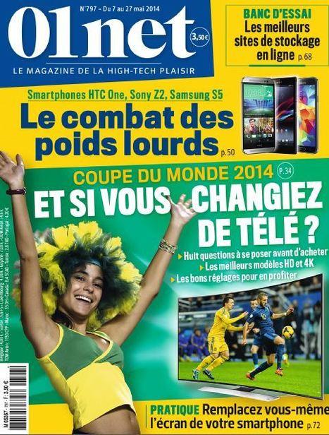 01net n° 797 du 7 au 27 Mai 2014 | Revue de presse du CDI - lycée professionnel Emile Zola à Hennebont | Scoop.it
