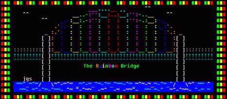Cryssy's Ascii Art - The Rainbow Bridge | ASCII Art | Scoop.it