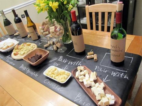 DIY Chalkboard Table Runner for Effortless Dinner Parties Jackie ... | Pintrest.com | Scoop.it