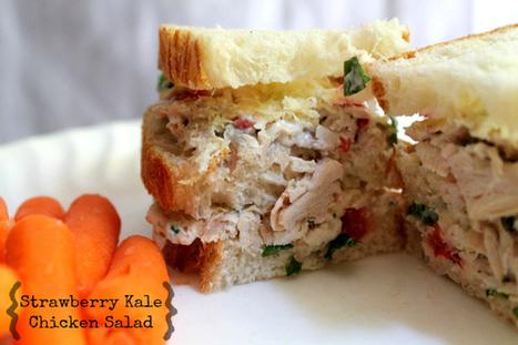 Strawberry Kale Chicken Salad Recipe | Truly Healthy Recipes | Scoop.it