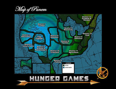 Maps of Panem - The Hunger Games | Geography | Scoop.it