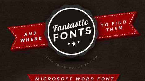 This Graphic Offers Good-Looking Fonts to Replace Dull, Overused Ones | Using the Web for Business | Scoop.it