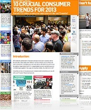 "trendwatching.com's Trend Briefing covering ""10 Crucial Consumer Trends for 2013"" 