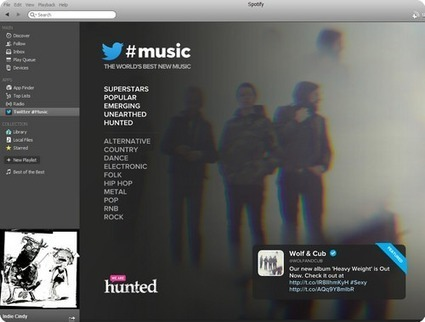 Twitter #music track-discovery added to Spotify, Rdio streaming apps | iPhones and iThings | Scoop.it