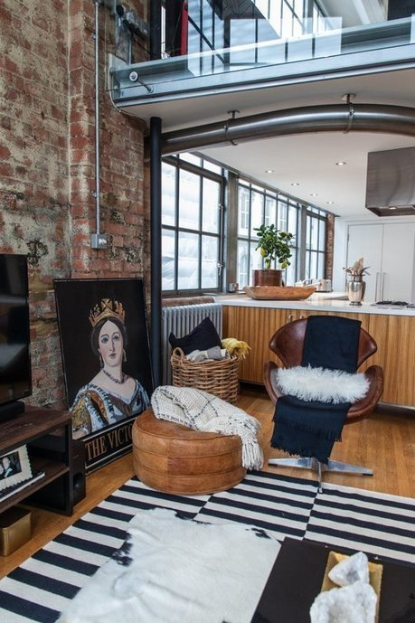 House Tour: An Eclectic London Loft | Raw and Real Interior Design | Scoop.it