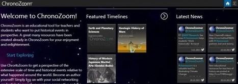 Chronozoom, la línea de tiempo histórica, permite ahora crear contenido propio | Formación 2.0 | Scoop.it