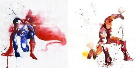 Watercolors That Capture The Essence Of Superheroes | GeekGasm | Scoop.it