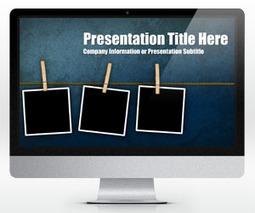 Free Widescreen Peg Grunge PowerPoint Template (16:9) - Free PowerPoint Templates - SlideHunter.com | hi | Scoop.it