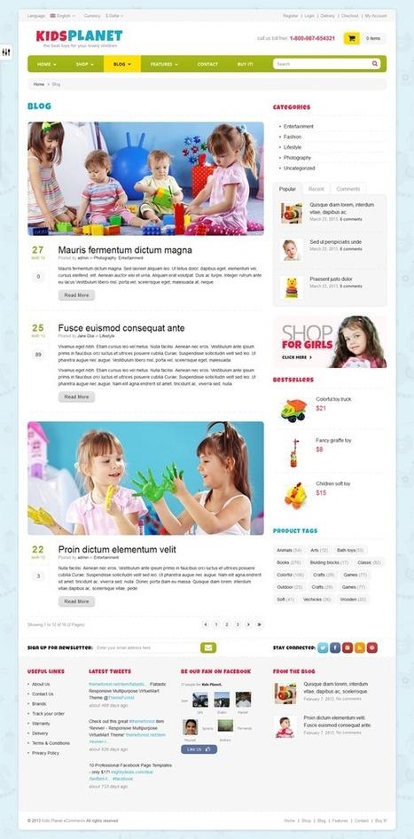 24 Responsive Blog Magazine HTML Website Templates | Webtechelp | Scoop.it