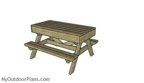 Sandbox Picnic Table Plans | MyOutdoorPlans | Free Woodworking Plans and Projects, DIY Shed, Wooden Playhouse, Pergola, Bbq | Garden Plans | Scoop.it