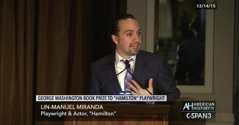 Live performance of One Last Time song by Lin-Manuel Miranda and Chris Jackson from 2015 George Washington Book Awards | Diverse Books and Media | Scoop.it