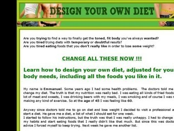 Design Your Own Diet – MainWeight Loss Natural | Weight Loss Natural | Weight Loss Eating Plan | Scoop.it