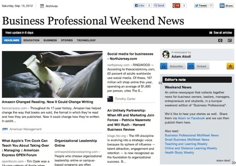Sept 15 - Business Professional Weekend News | Business Futures | Scoop.it