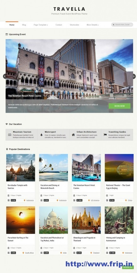 20 Best WordPress Travels Themes & Templates | Frip.in | 50+ Best Single Page WordPress themes | Scoop.it