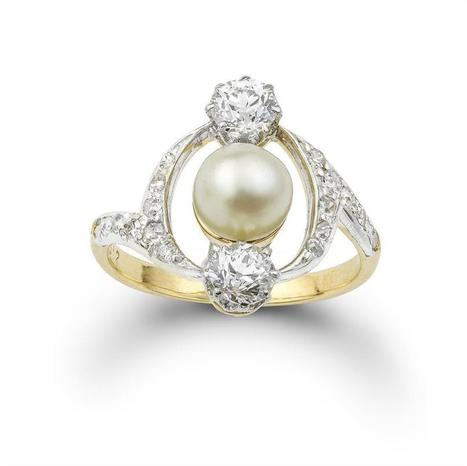 A French Art Nouveau pearl and diamond ring - Bentley & Skinner | Bentley And Skinner | Scoop.it
