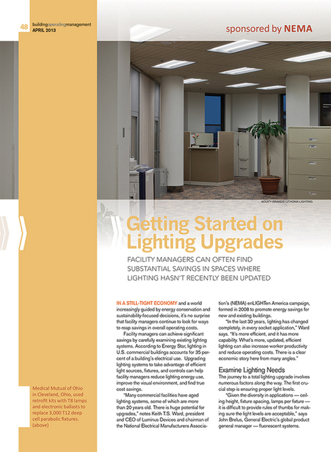Lighting:  Article from Building Management on Lighting Upgrades | Facility Issues for your Workplace | Scoop.it