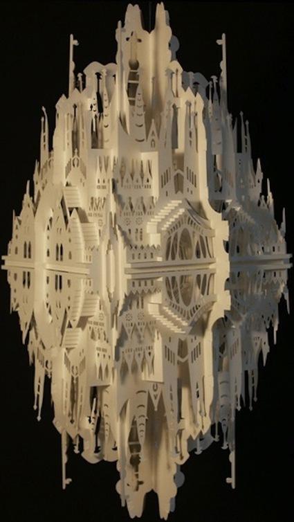 Using Paper, Artist Creates Collapsible 3D Pop-Up Miniature Building - DesignTAXI.com   Livres animés et Pop-up   Scoop.it