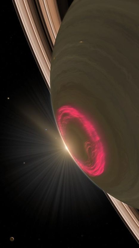 Dazzling display of light by auroras on Saturn | Music | Scoop.it