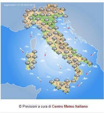 Italia: domani nuovo peggioramento su Sardegna verso il Centro-Nord dal ... - Centro Meteo Italiano | LucaScoop.it | Scoop.it