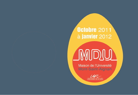 Programme saison culturelle  Maison de l'Université Oct 2011 -> Janv 2012 | Rouen | Scoop.it