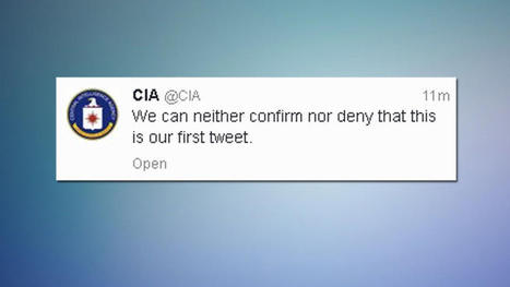CIA Joins Twitter... and makes fun of it! | Redes sociais | Scoop.it