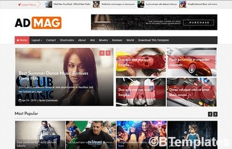 AD MAG BLOGGER THEME | Blogger themes | Scoop.it