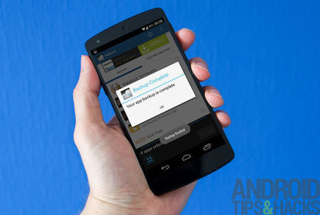 How to back up Android apps and app data with or without root | Android | Scoop.it