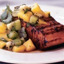 Marinated Salmon with Mango-Kiwi Relish | MyRecipes.com | Healthy Meals | Scoop.it