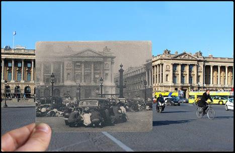Impressionanti sovrapposizioni di foto di Parigi del 1940 e di oggi | Social Media Consultant 2012 | Scoop.it