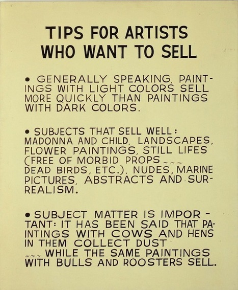 Tips for Artists Who Want to Sell, or Channeling Baldessari in Bushwick | contemporary art professionals | Scoop.it