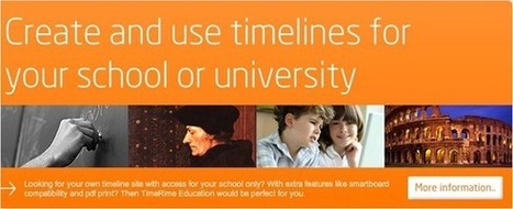 7 Best Timeline Creators For Creating Awesome Timelines | Create, Innovate & Evaluate in Higher Education | Scoop.it