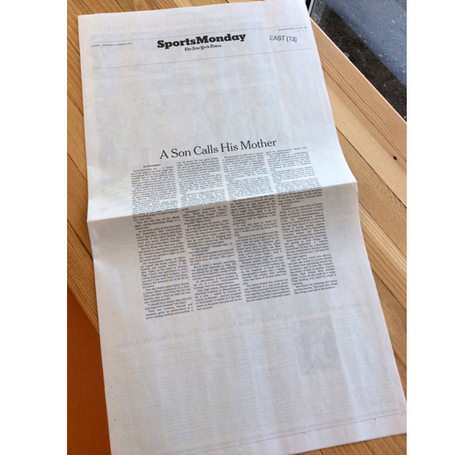 NY Times Sports Page Goes Text Only | New Journalism | Scoop.it
