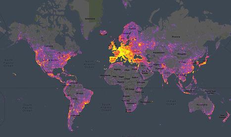 Sightseeing Heatmap of Popular Photo Spots Around the World | datavizualisation | Scoop.it