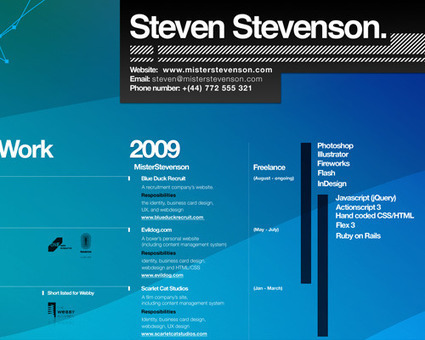 How To Create A Great Web Design CV and Résumé? | Smashing Magazine | eduhackers.org | Scoop.it