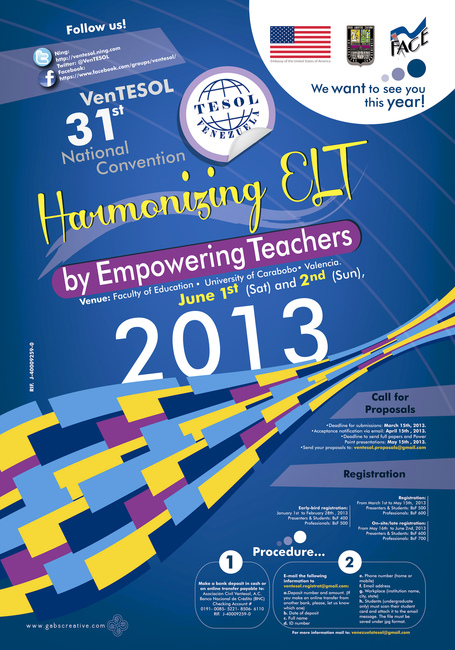 "VenTESOL 31st Annual National Convention ""Harmonizing ELT by Empowering Teachers"" 