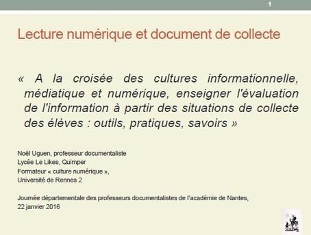 le document de collecte et la culture numérique- Noël Uguen | Le document de collecte | Scoop.it