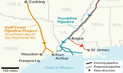 TransCanada's Keystone Pipeline's Southern Leg to Begin Transporting Oil to U.S. Gulf Coast   EcoWatch   Learning & Geography   Scoop.it