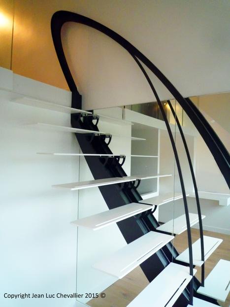 L'escalier design profil stylisé | Escalier Design Mobilier Contemporain de style Art Nouveau | Scoop.it