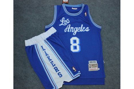 Los Angeles Lakers #8 SwingMan Blue Jersey & Shorts Suit Group Mens | fashion collection | Scoop.it