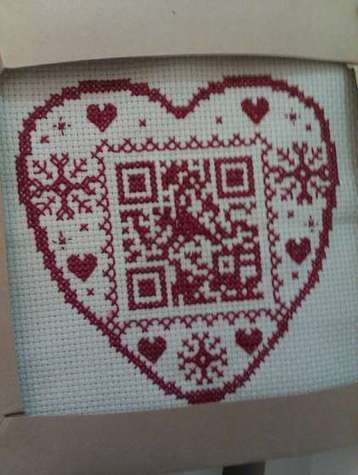 The ultimate geeky personalised gift - make a cross stitch QR code | VIM | Scoop.it