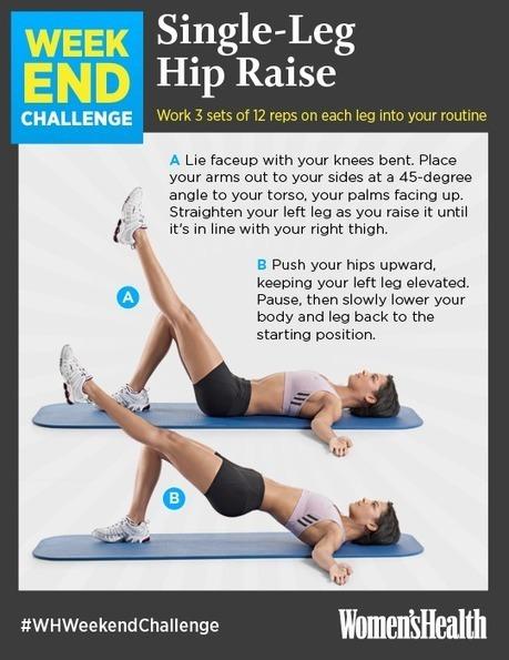 Weekend Challenge: Single-Leg Hip Raise | Health and Fitness Magazine | Scoop.it