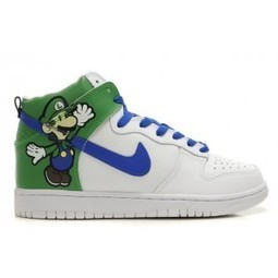 Nike Dunk Luigi Bros SB High Super Mario luigi nike dunks /luigi nikes | Hello Kitty Nike Dunks | Scoop.it