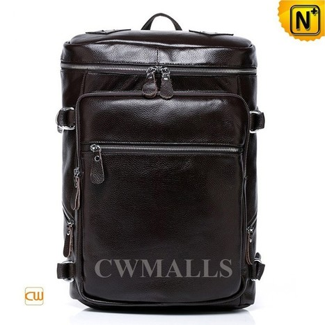 CWMALLS® Leather Rucksack Backpacks for Men CW916055   Mens Business Bags   Scoop.it