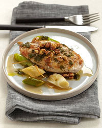 Chicken Breasts with Walnuts, Leeks and Candied Lemon Recipe | À Catanada na Cozinha Magazine | Scoop.it
