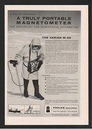 1958 Varian Associates Palo Alto CA Magnetometer Geological Geophysical Ad | Shallow Geophysics | Scoop.it