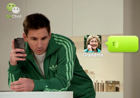 Boosted by Messi's endorsement, WeChat scores 100 million users outside of China | Software People and Telco | Scoop.it